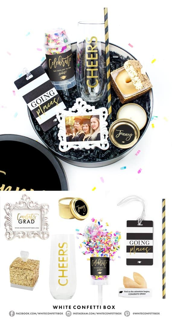 college graduation gift box