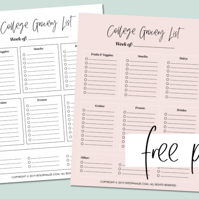The Only College Grocery List You'll Ever Need (FREE printable!)