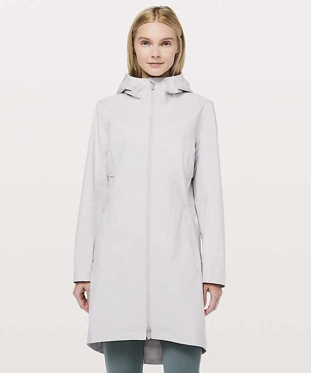 college rain jacket