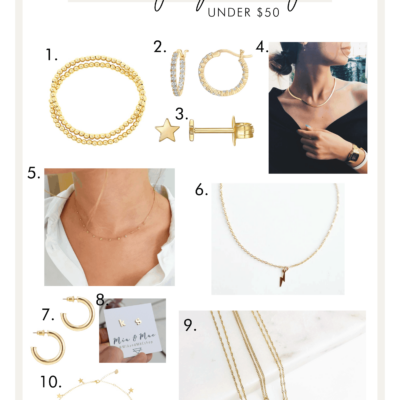 DAINTY JEWELRY I'M OBSESSING OVER (UNDER $25)