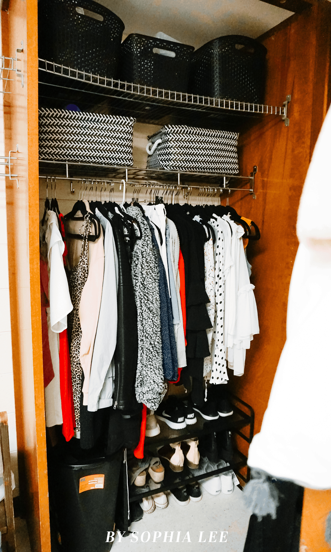 dorm closet diy
