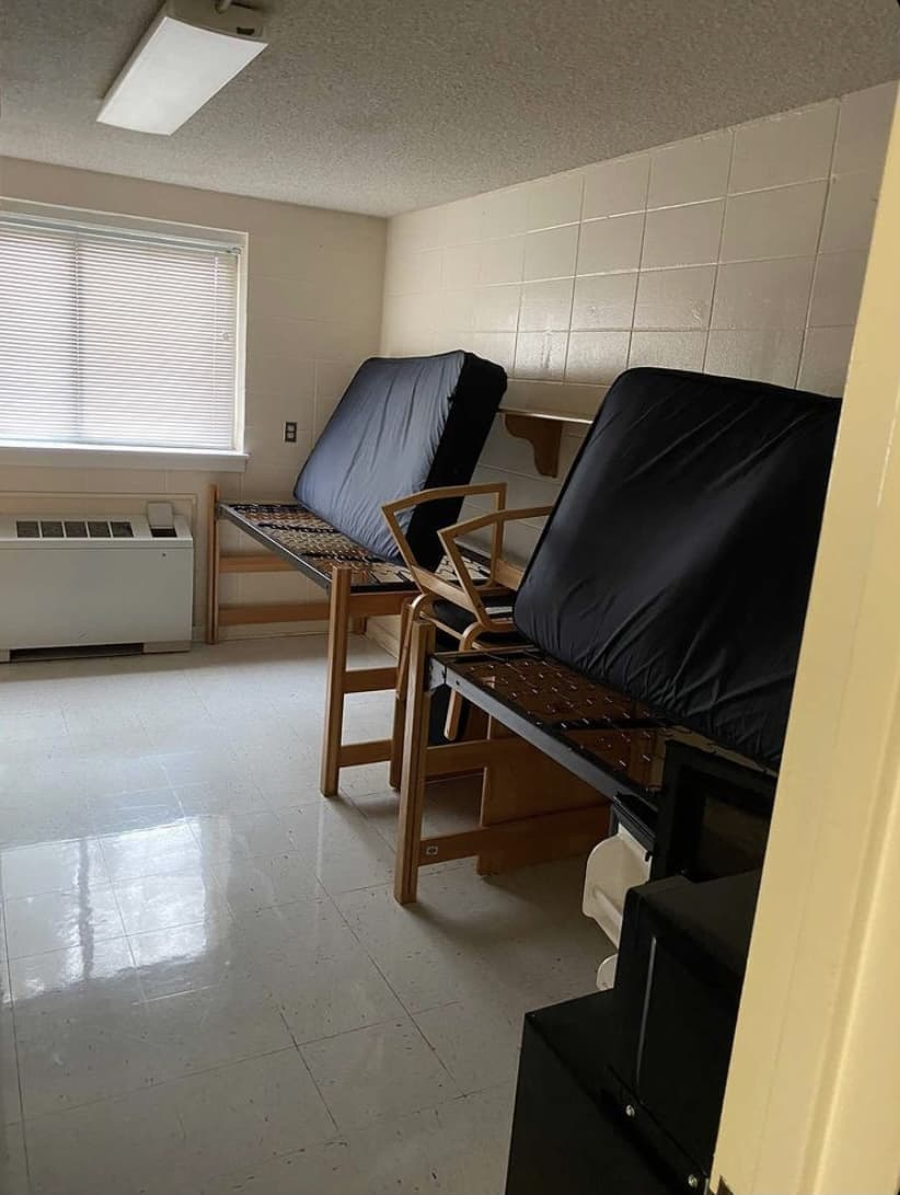 dorm room before and after