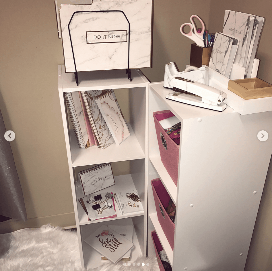 dorm room organization storage