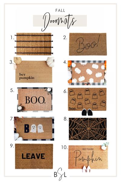 fall doormats