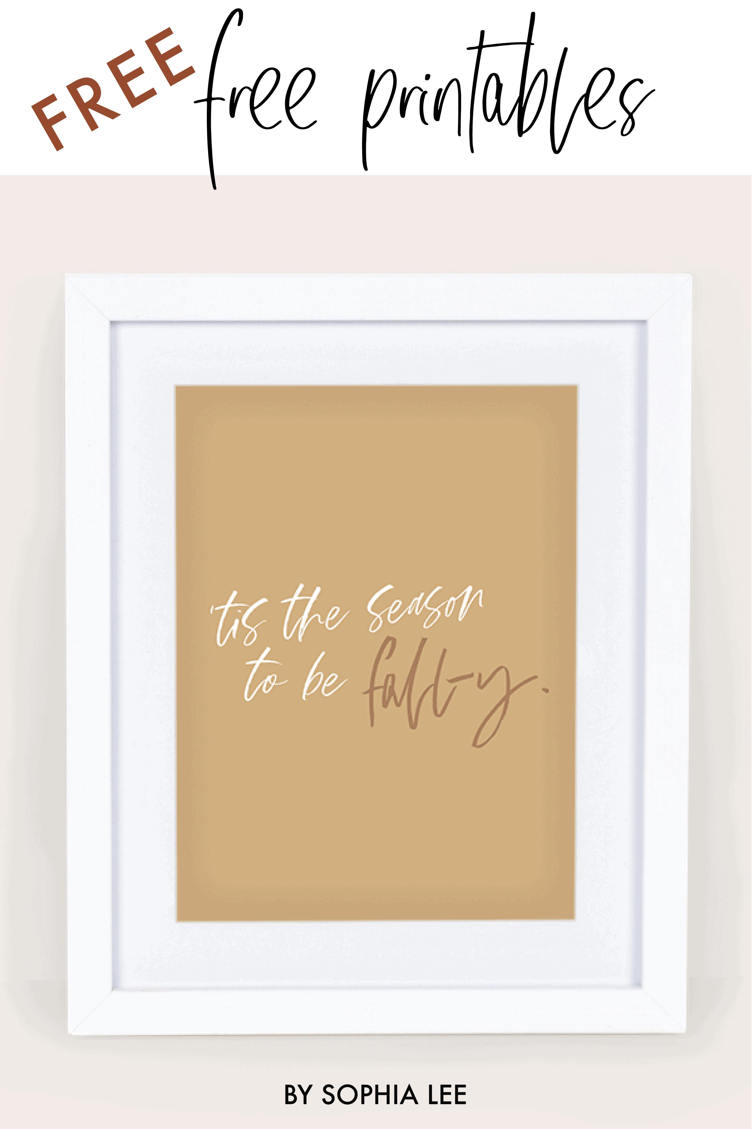 minimalist fall printable