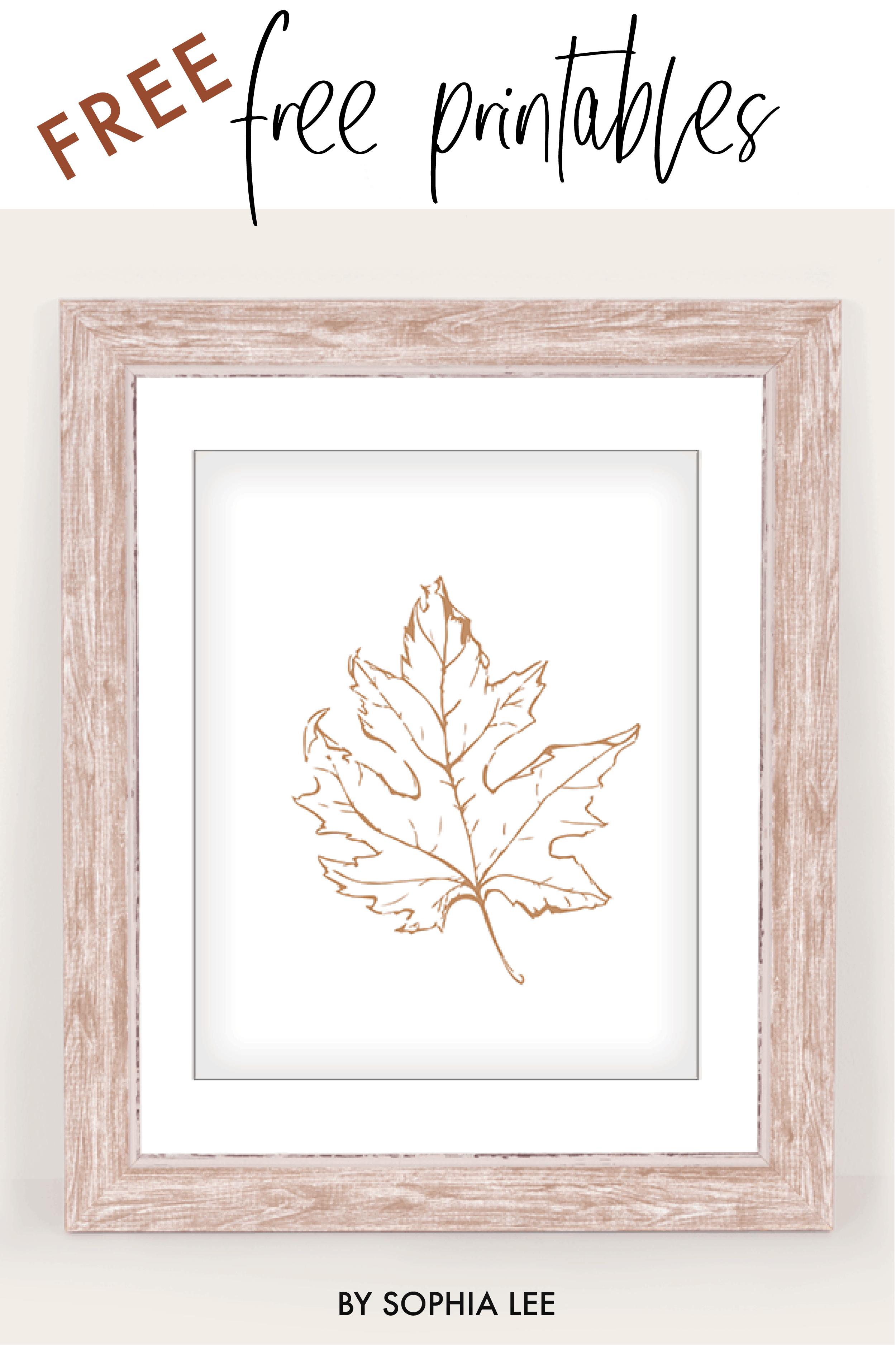 minimalist fall prints