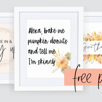 27 Insanely Cute Free Fall Printables You Need for Your Fall Decor