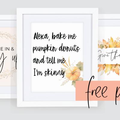free fall printables vintage