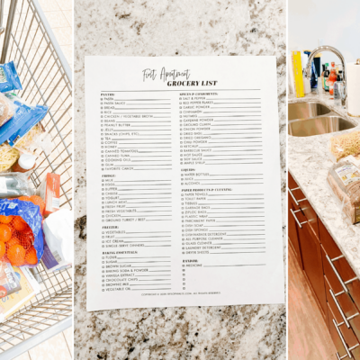 First Apartment Grocery List | The Ultimate List of Kitchen Essentials You Need For Your First Apartment