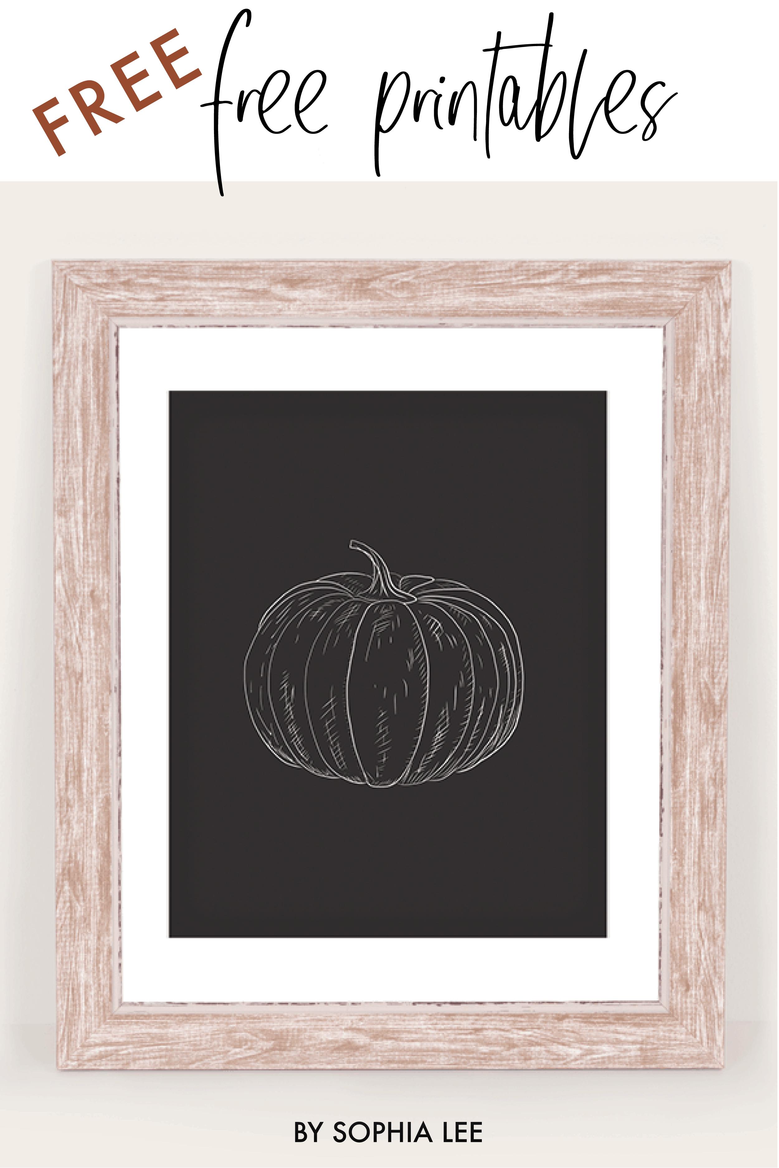 free printables pumpkin