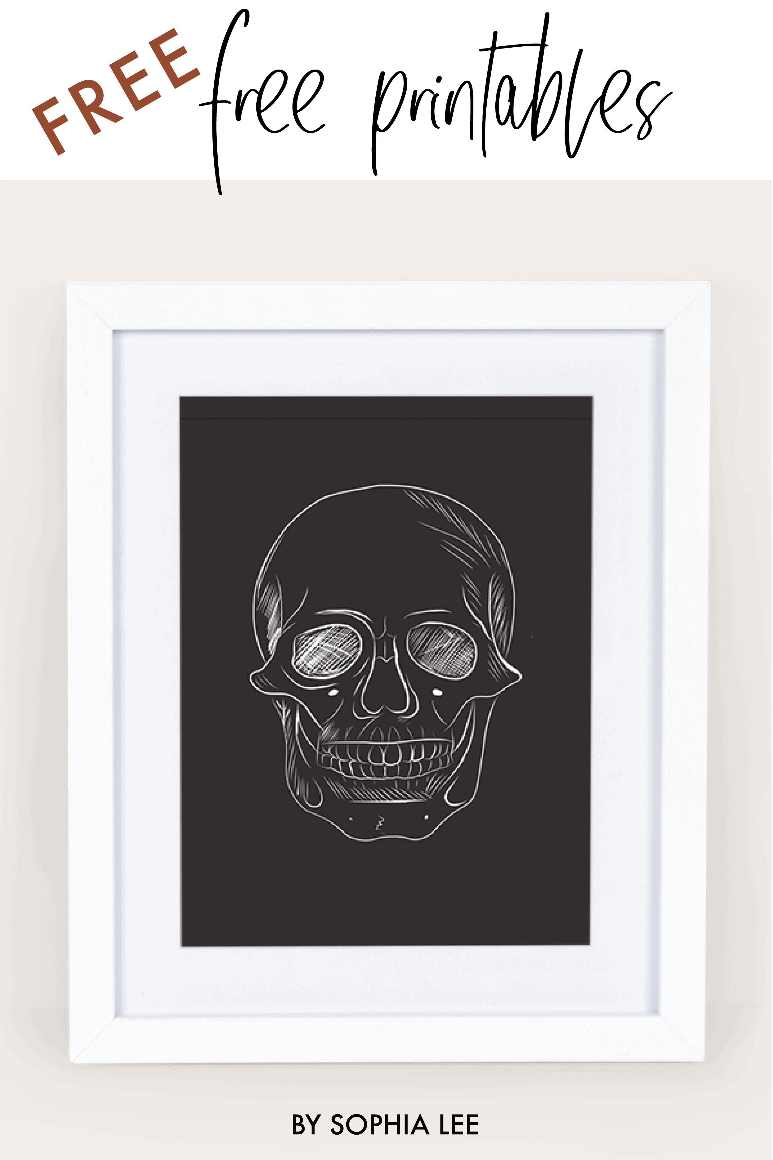 skeleton fall wall art