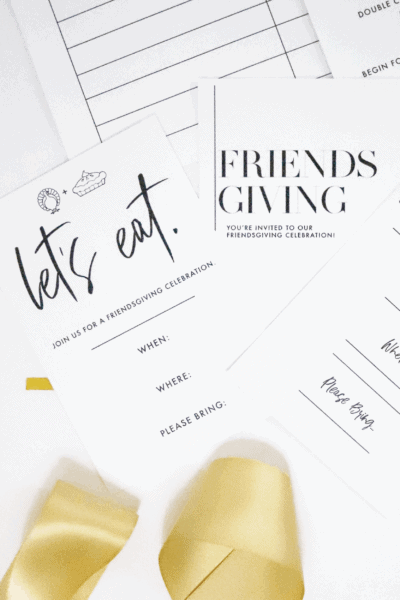 friendsgiving invitations