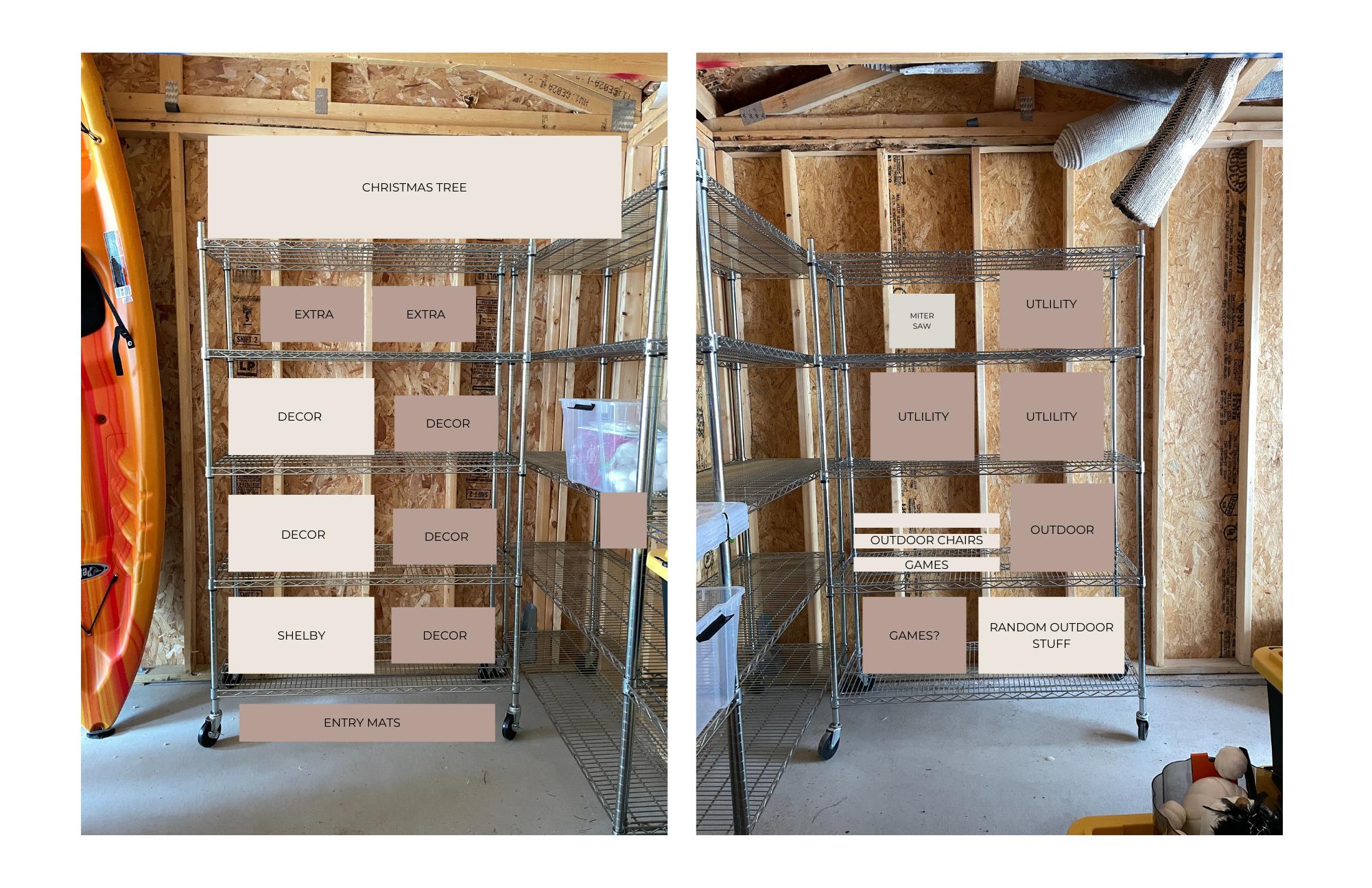 garage organization layout ideas
