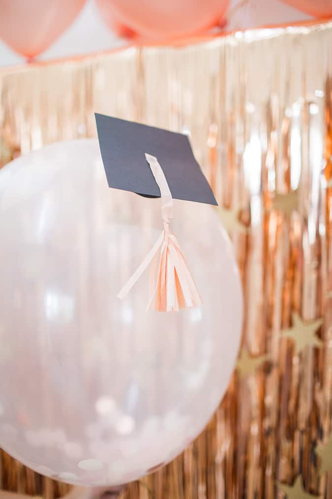 girly graduation party decorations