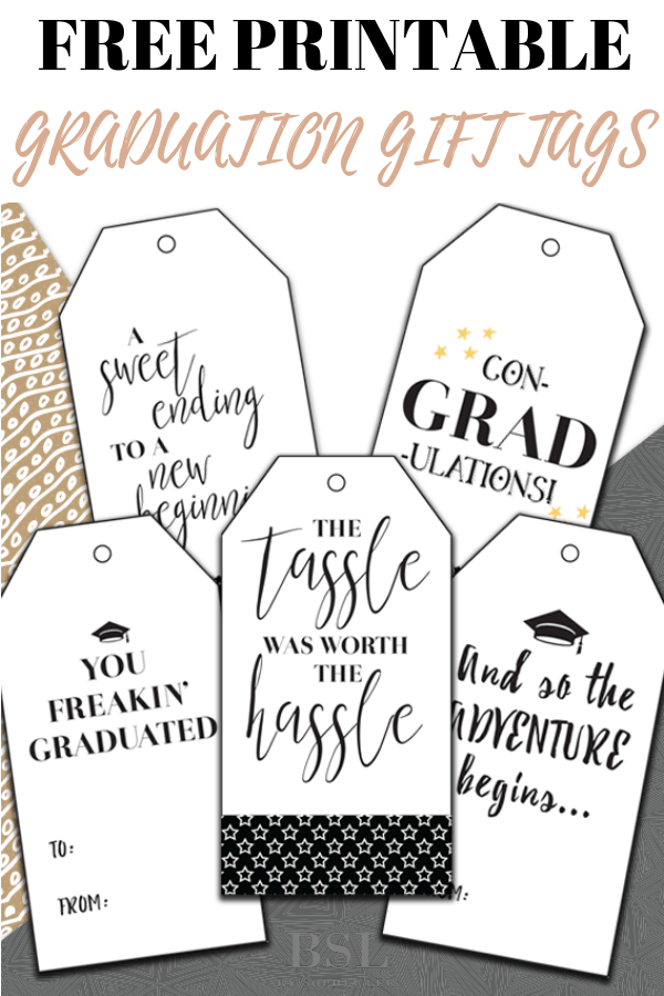 free printable graduation gift tags
