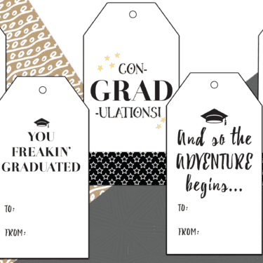 free printable graduation gift tag