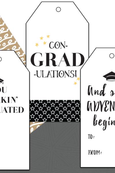 free printable graduation gift tag
