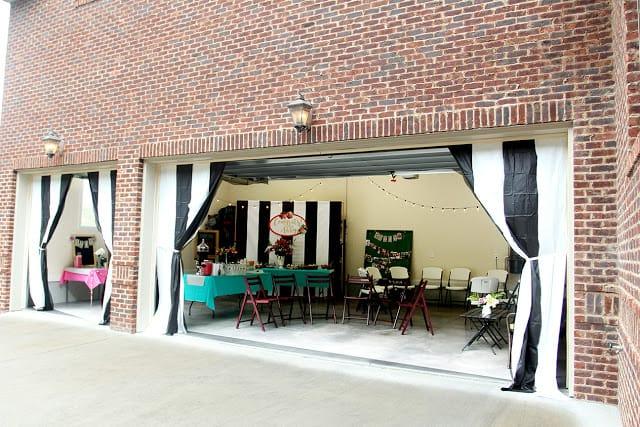 graduation party ideas garage
