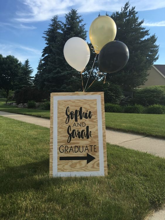 graduation party ideas signs