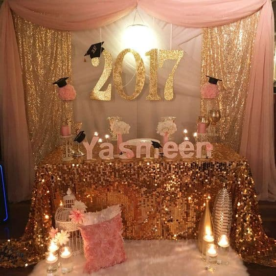 graduation party themes gold