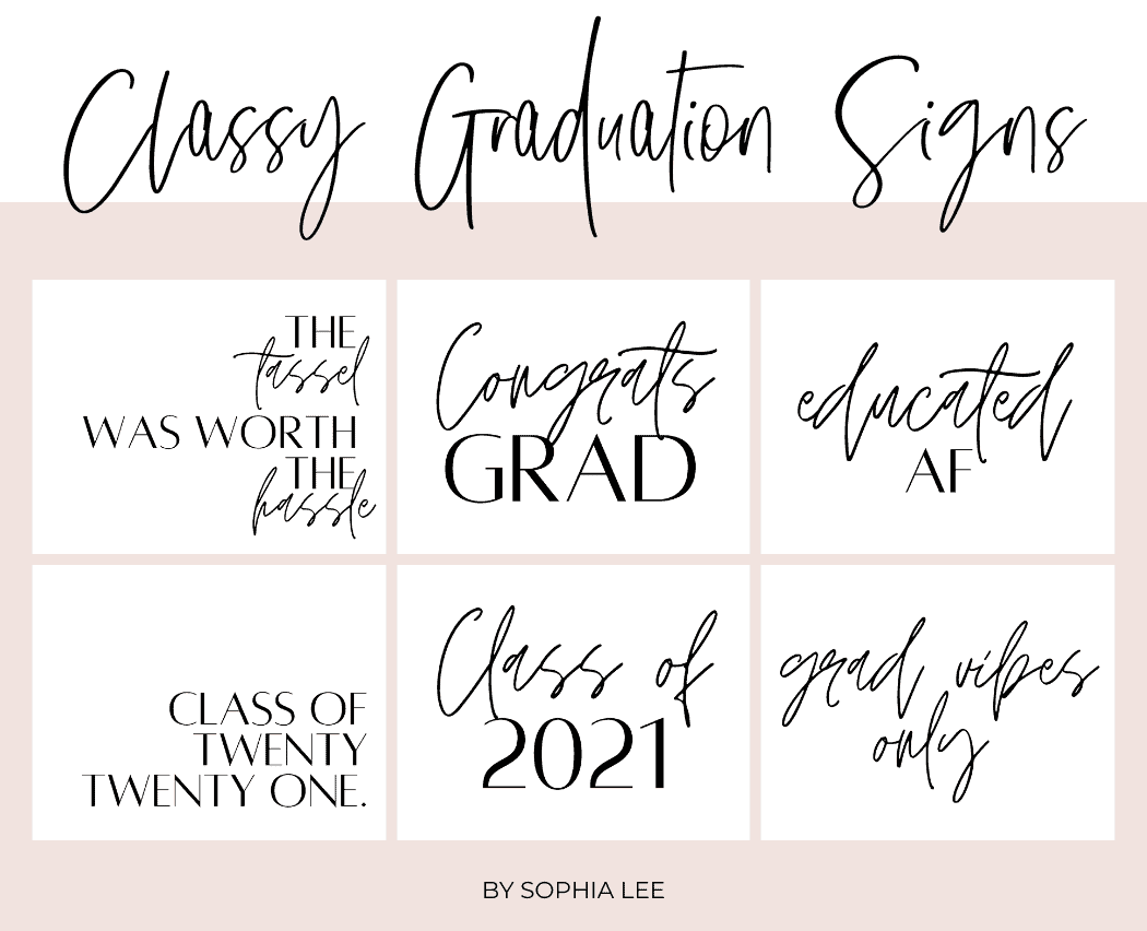 graduation sign ideas 2021