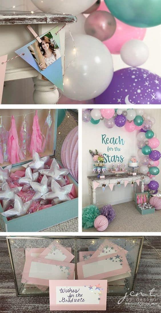 high school graduation party themes color schemes