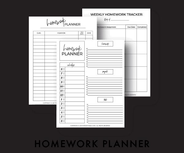 homework planner5