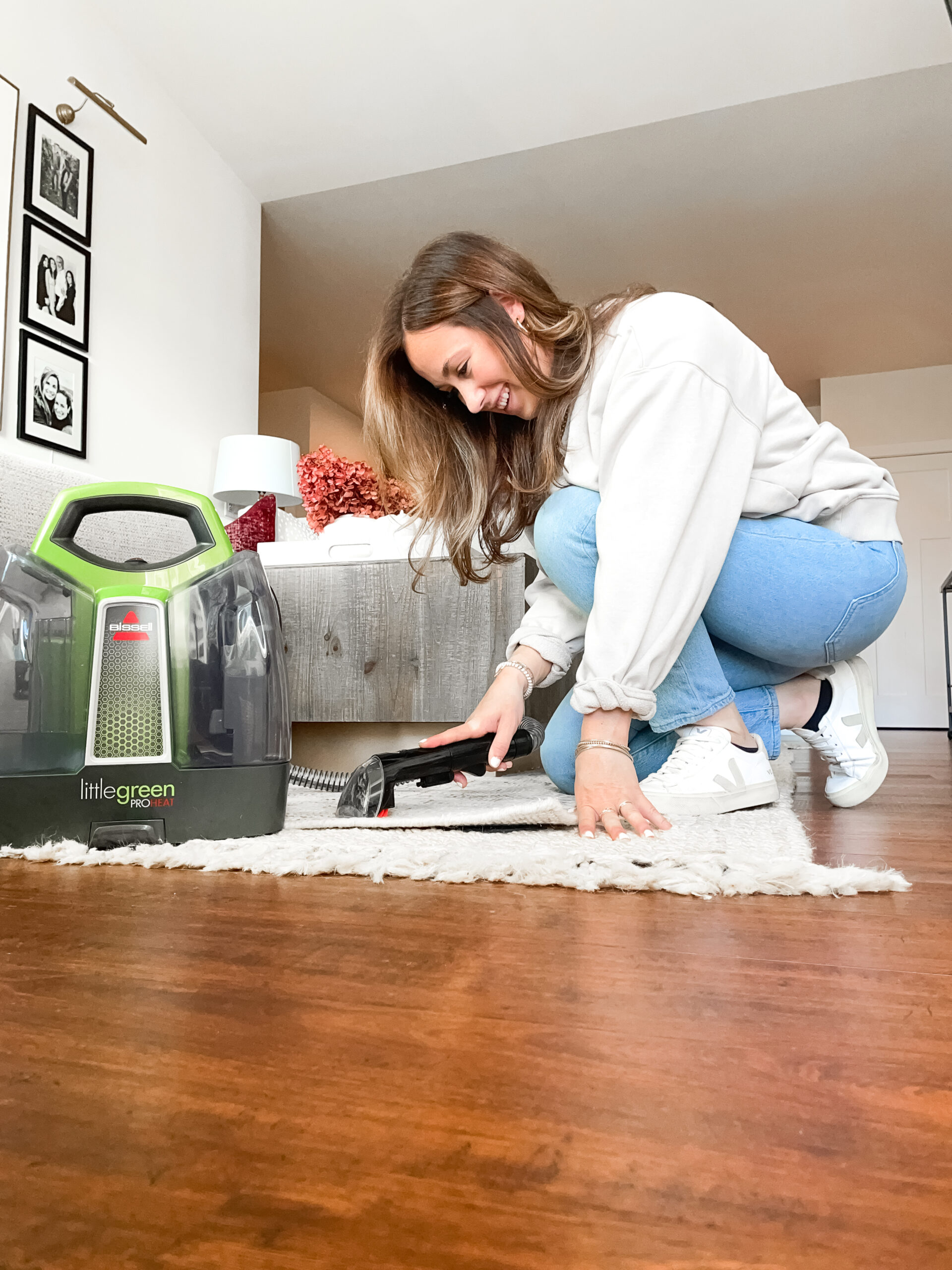 step by step how to clean a rug