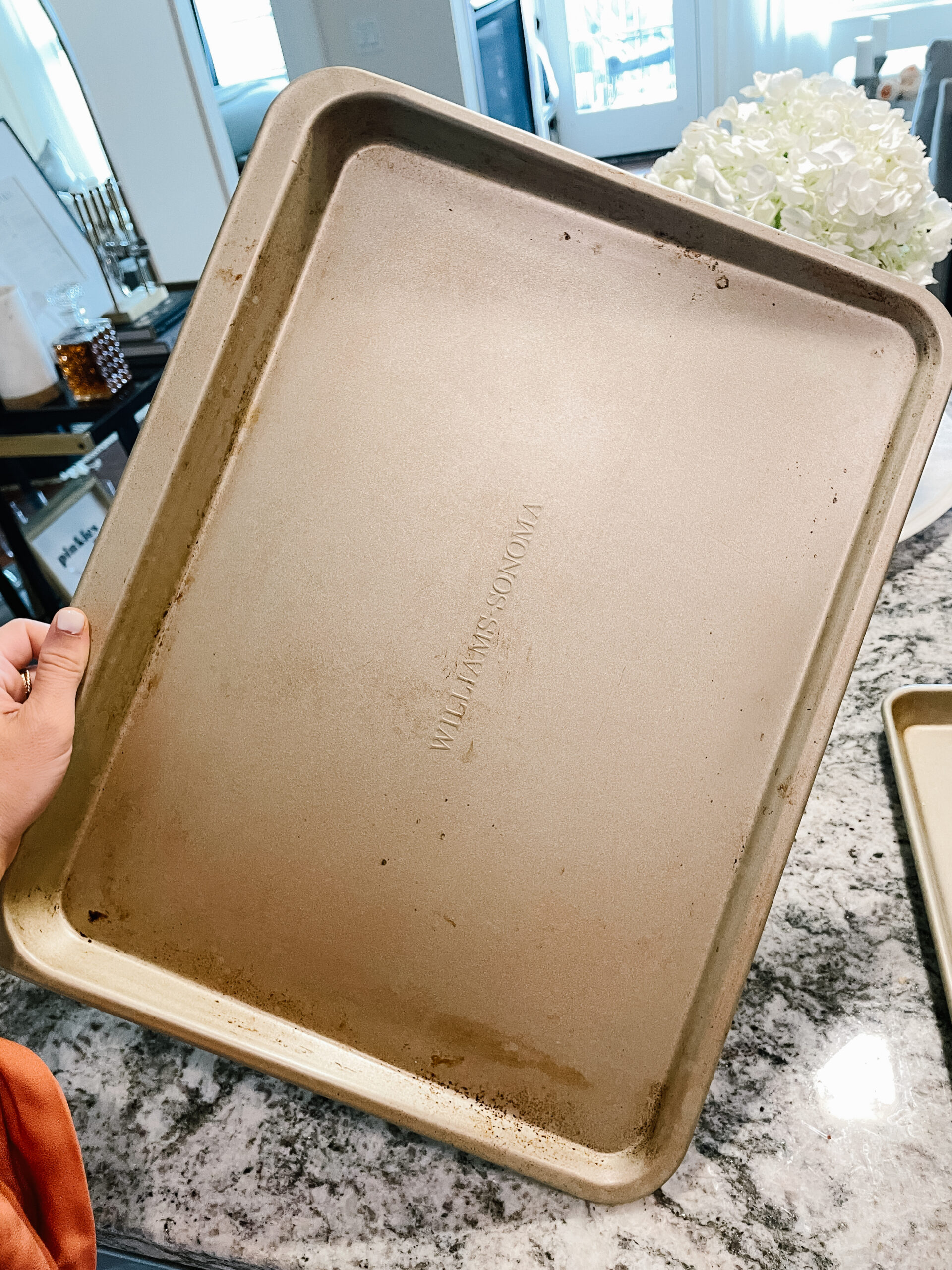 how to get burn marks off your cooking sheets