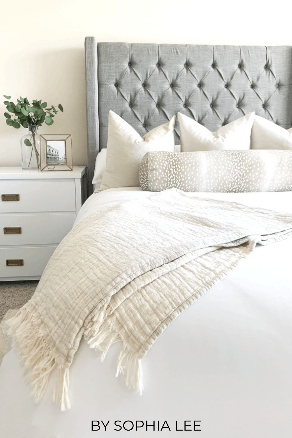 how to make your bed look expensive