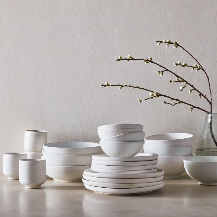 white kitchen dishes