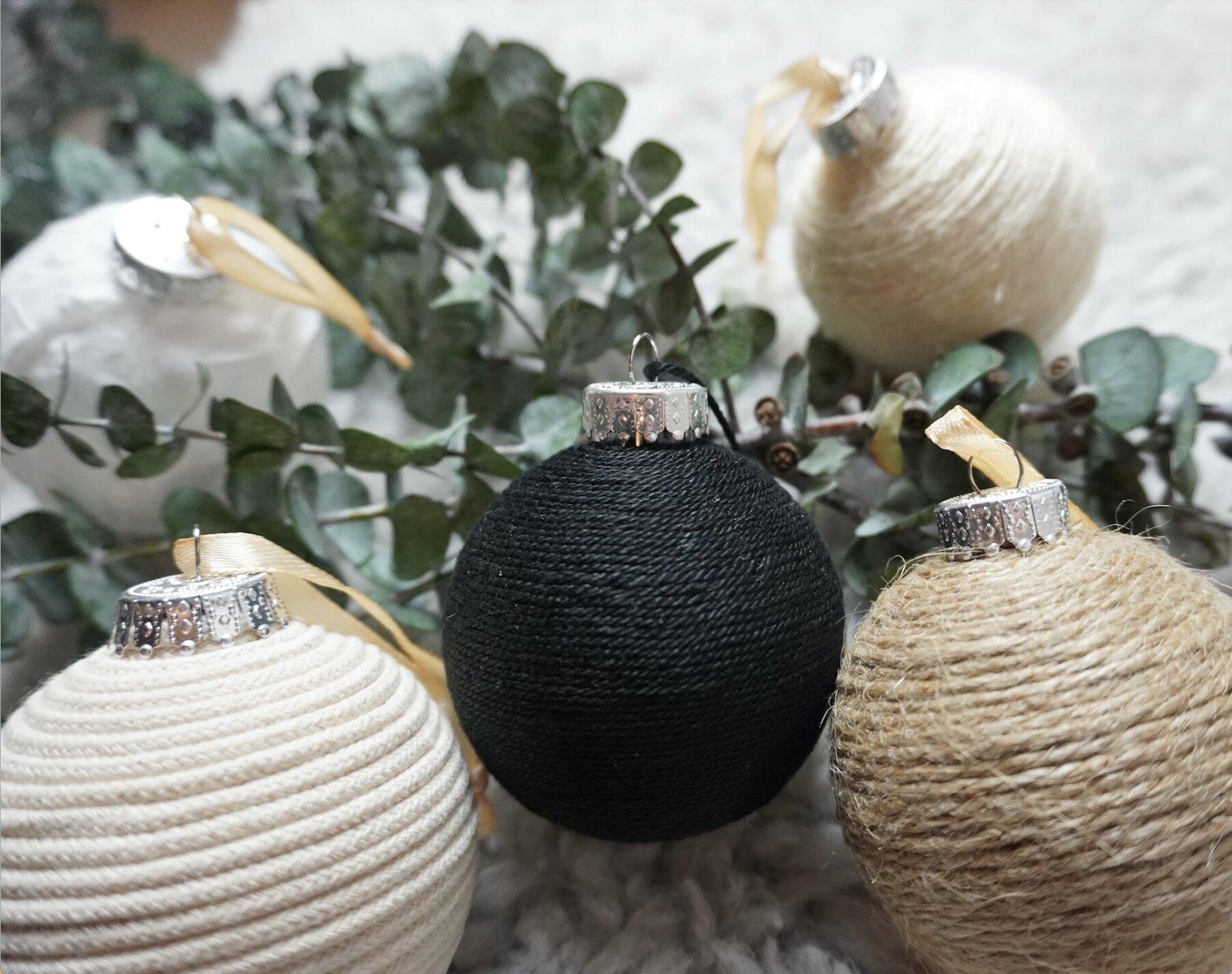 neutral christmas ornaments
