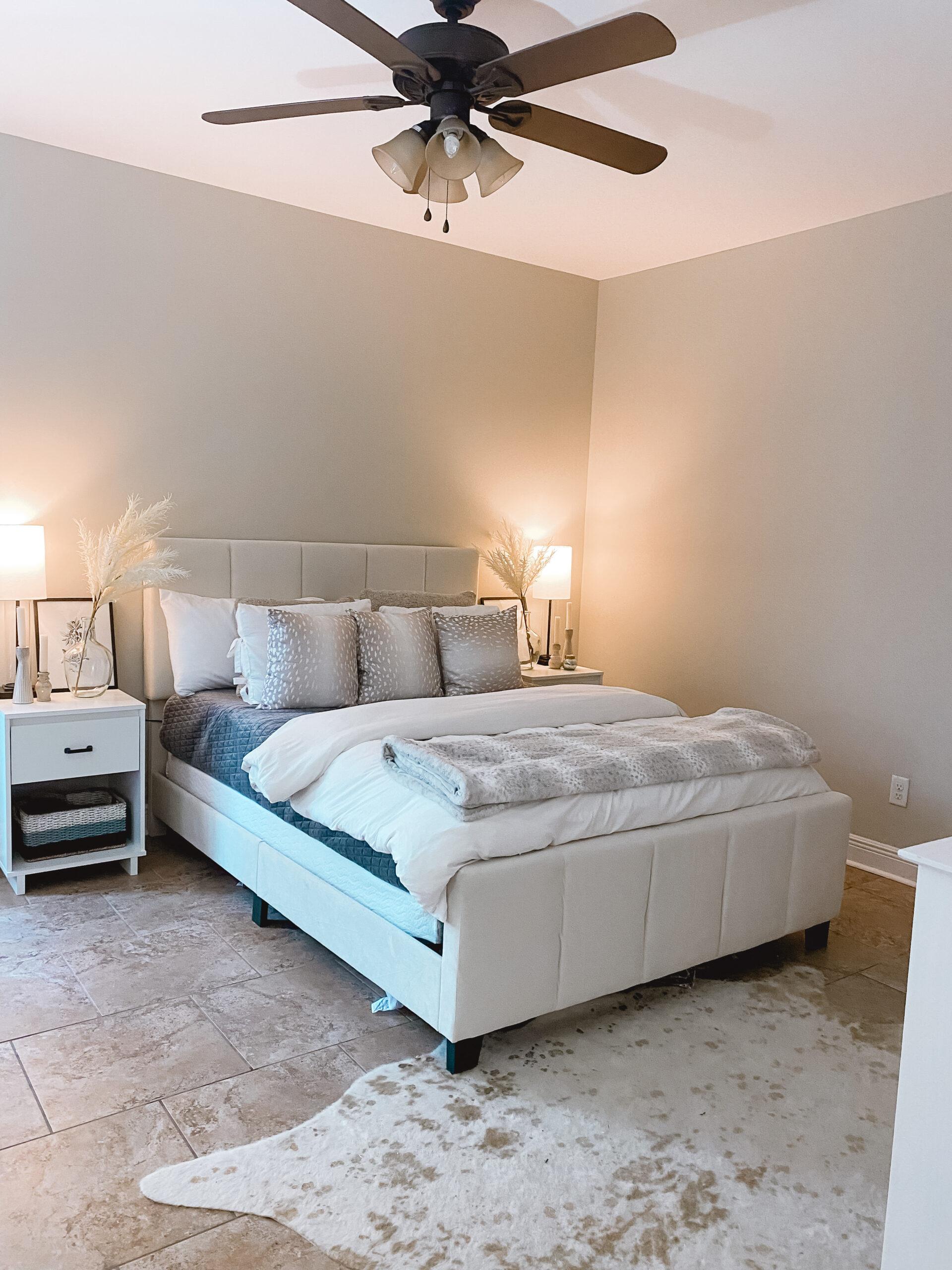 neutral bedroom college