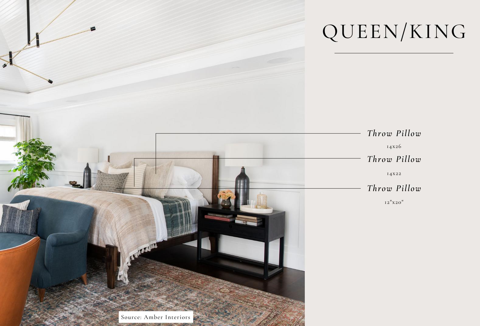 queen bed pillow sizes