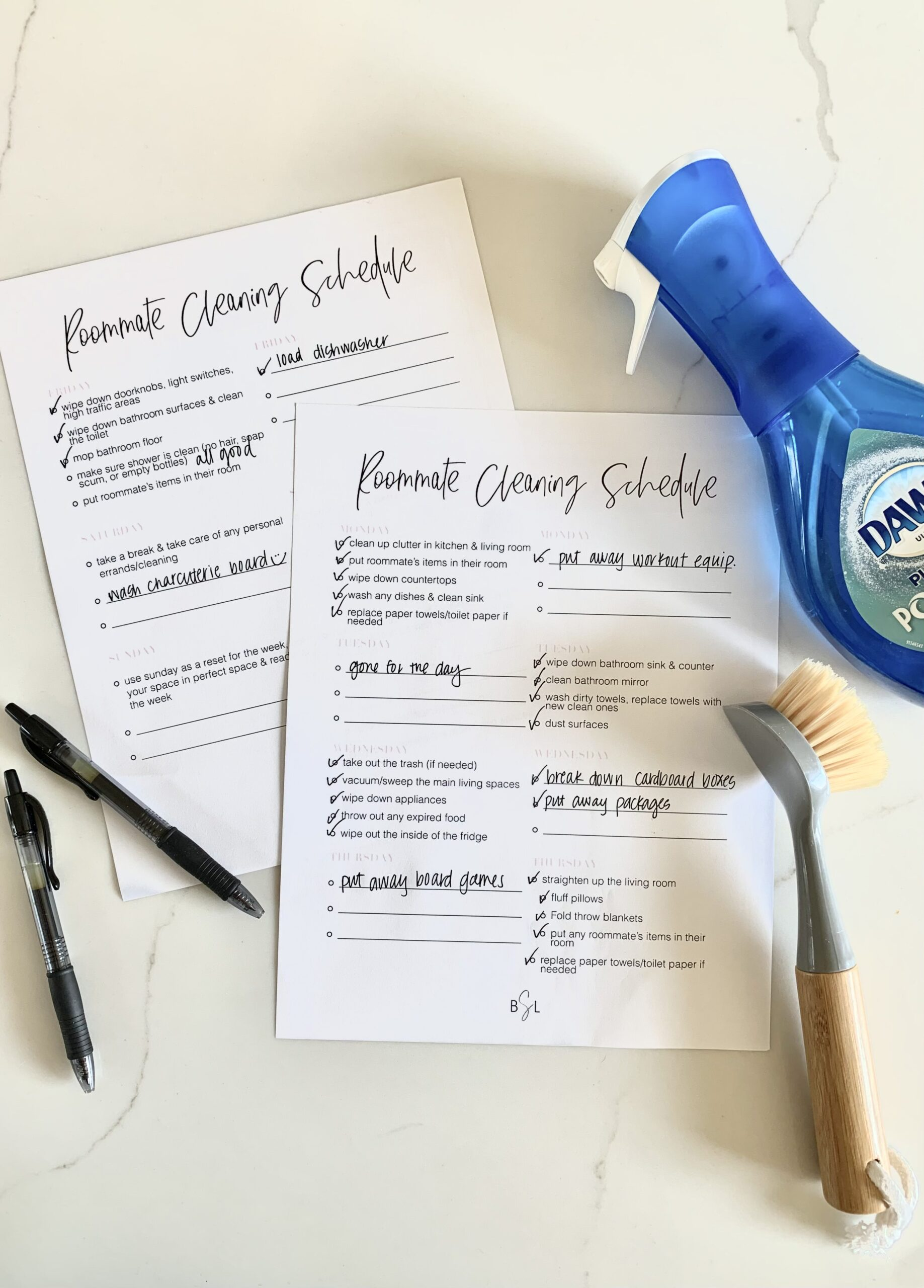 The Ultimate Roommate Cleaning Schedule To Keep Your Space ...
