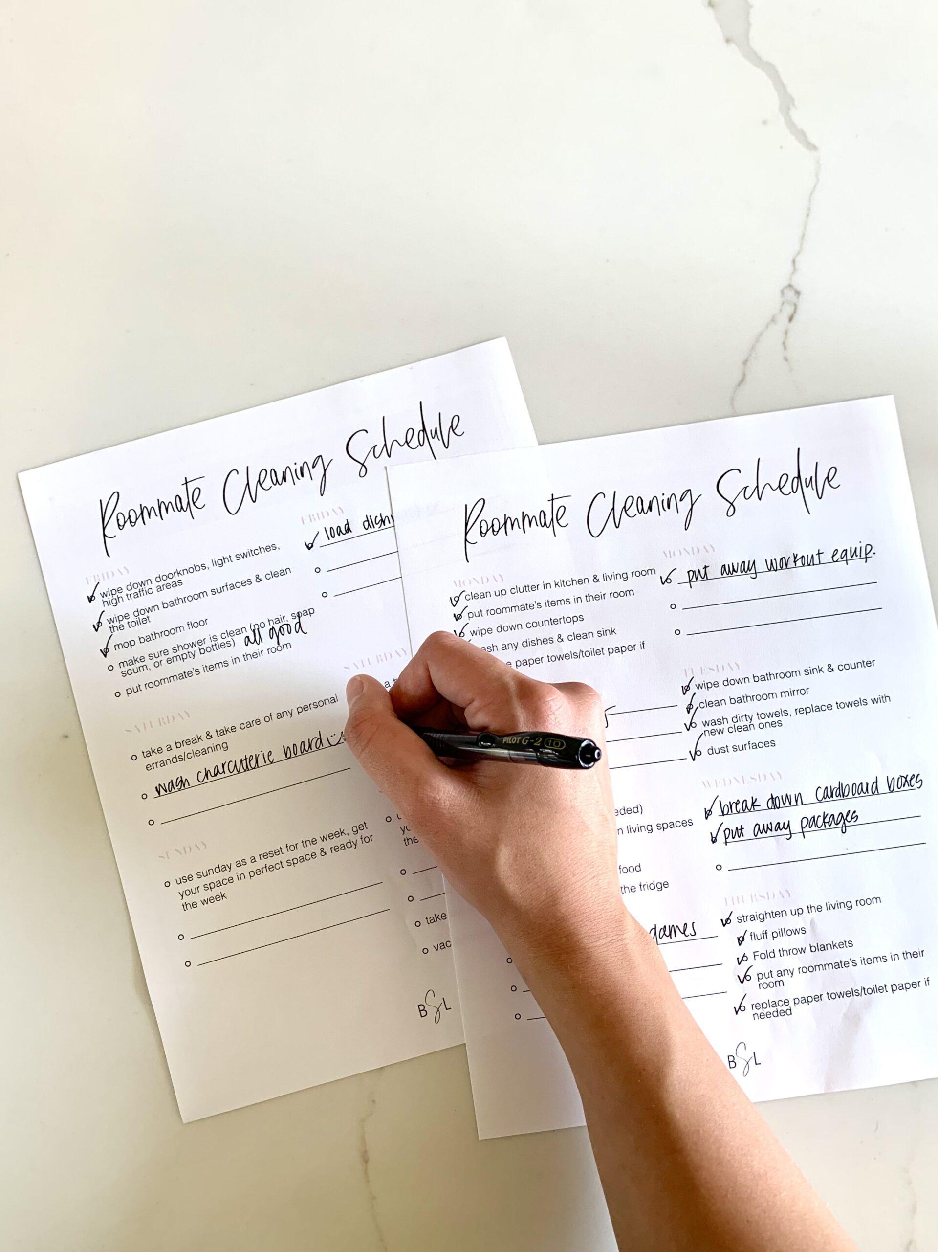 roommate chore chart maker