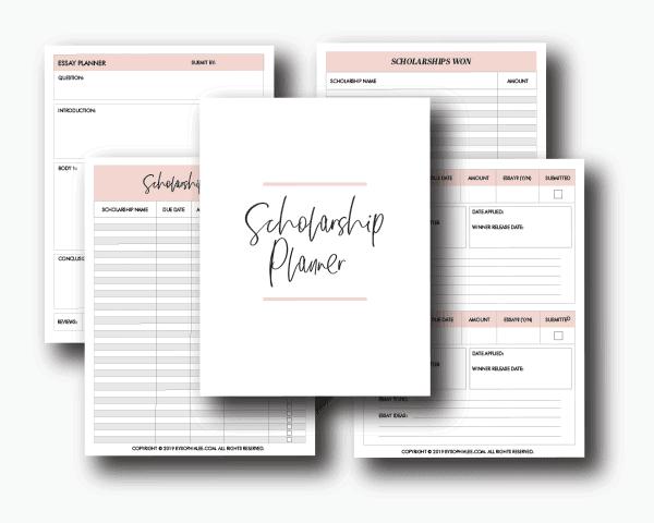 Scholarship Tracker & Planner