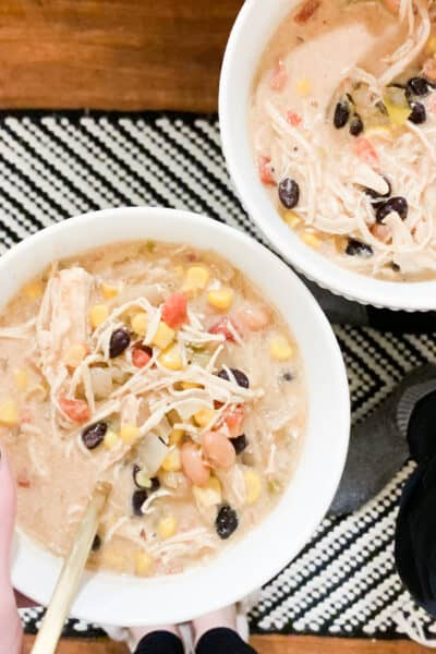 slow-cooker creamy chicken tortilla soup