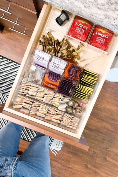 tea drawer organization