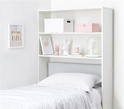 dorm headboard shelves