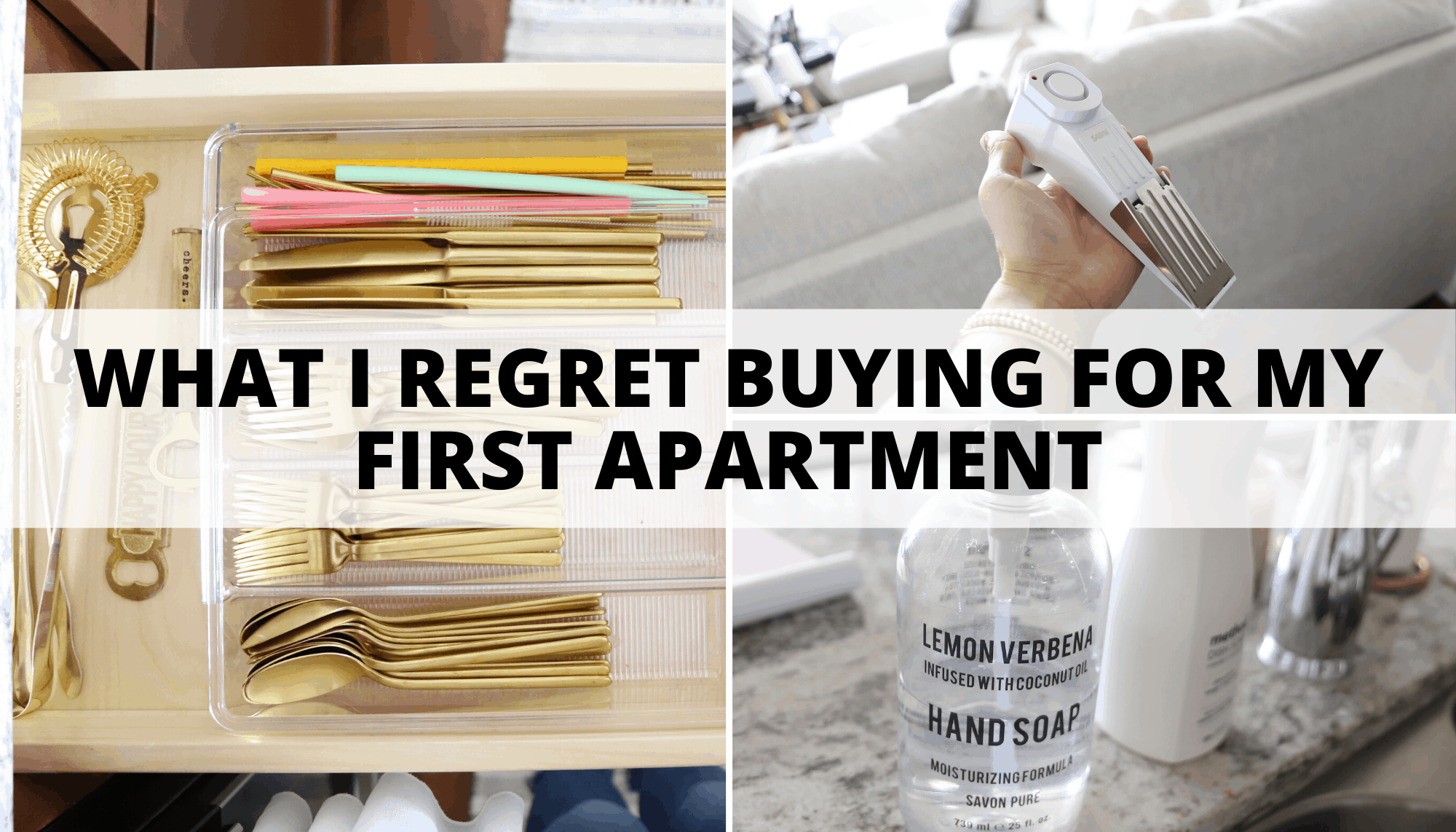 what i regret buying for my first apartment
