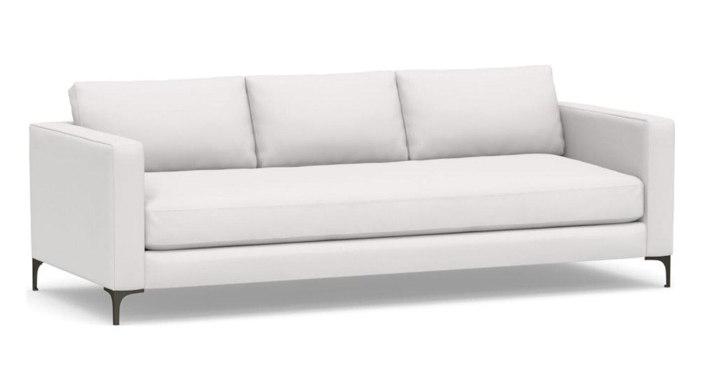 white linen couches